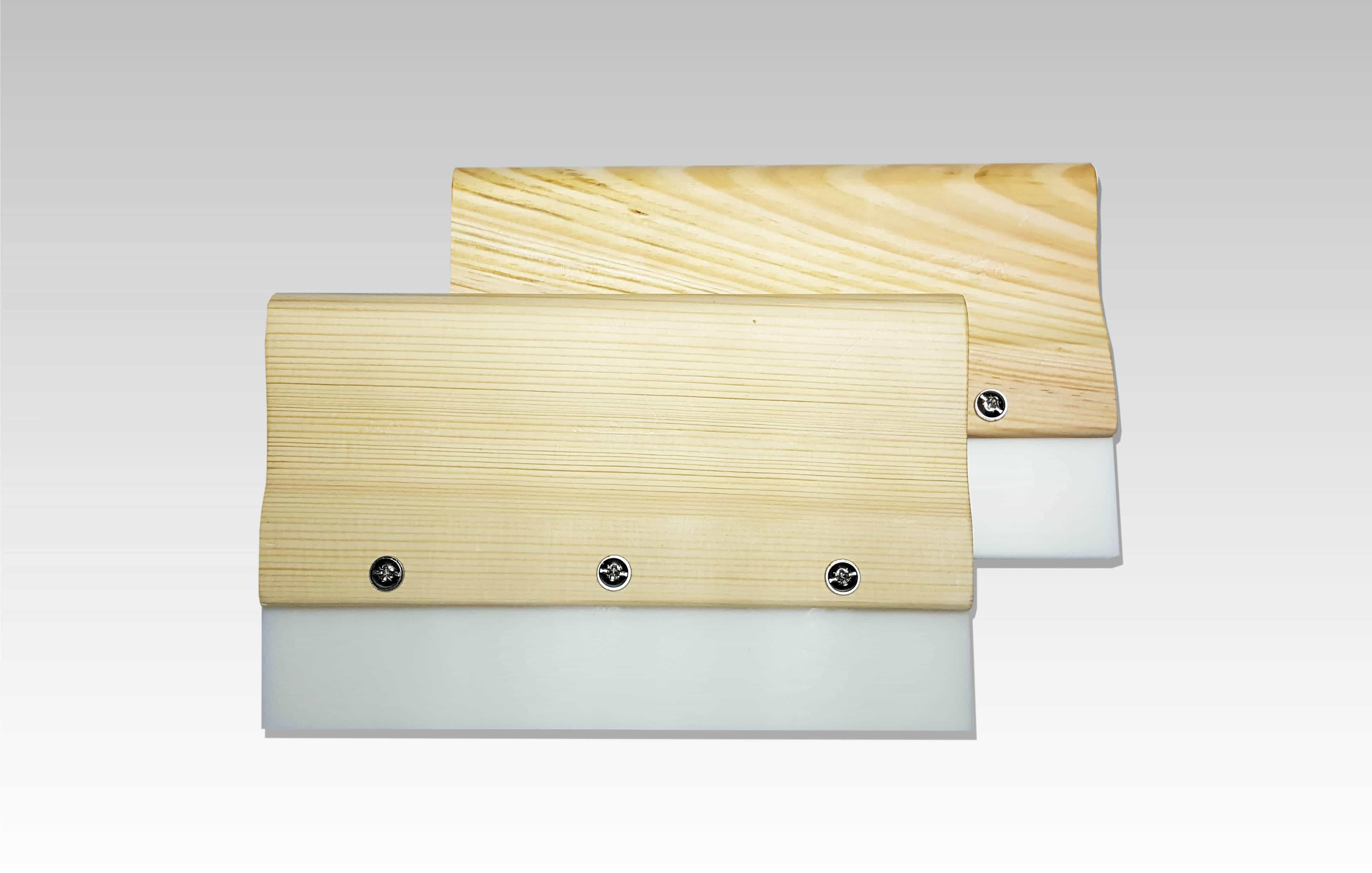 Holzrakel mit auswechselbarer Hartgummilippe